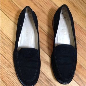 Chanel black suede loafers 381/2 (I'm 39)